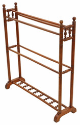 Antique quality Victorian C1890 walnut towel rail stand 19th Century