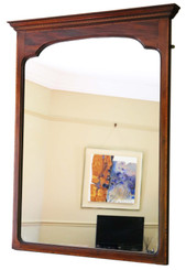 Antique large quality Edwardian inlaid mahogany wall mirror C1905