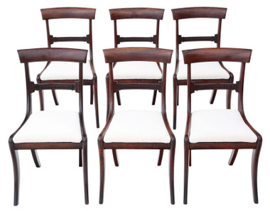 Antique quality set of 6 Regency mahogany dining chairs C1825