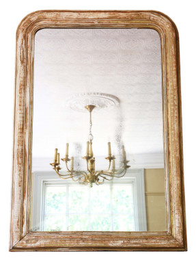Antique quality very large gilt overmantle wall mirror 19th Century