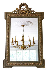 Antique large fine quality 19th Century gilt overmantle or wall mirror