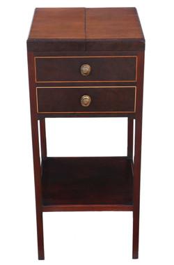 Antique fine quality Georgian mahogany bedside table washstand C1810