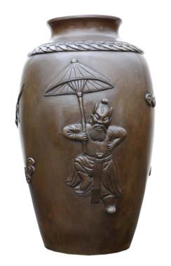Antique fine quality Japanese Meiji period bronze vase