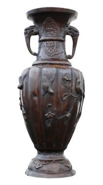 Antique quality Japanese bronze vase Meiji period