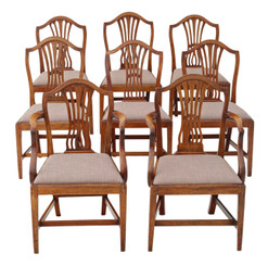 Antique quality set of 8 (6+2) Georgian mahogany dining chairs C1800