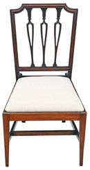 Antique fine quality 19th Century mahogany dining bedroom, hall chair