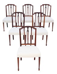 Antique fine quality set of 6 19th Century mahogany dining chairs Baker of Bath