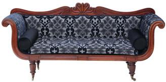 Antique fine quality Regency / William IV C1825-35 mahogany scroll arm sofa