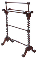 Antique quality mahogany towel rail stand Victorian C1870
