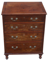Antique fine quality small mahogany chest of drawers 19th Century