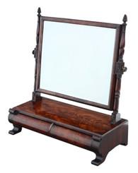 Antique fine quality Georgian Regency C1825 mahogany dressing table swing mirror toilet