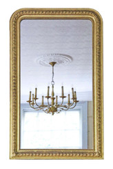 Antique large quality 19th Century gilt mirror overmantle wall