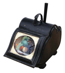 Antique Quality Victorian C1880 Japanned coal scuttle purdonium Loveridge