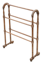 Antique quality C1870 Victorian pine towel rail stand
