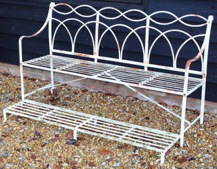 Vintage quality wrought iron 5' garden or park bench