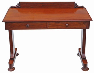 Antique fine quality Victorian 19th Century mahogany writing desk dressing table