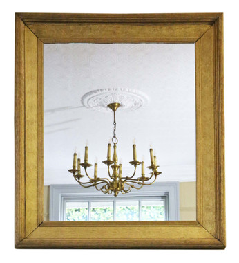 Antique large 19th Century gilt overmantle wall mirror quality