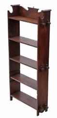 Antique quality C1900 Art Nouveau / Arts and Crafts oak bookcase
