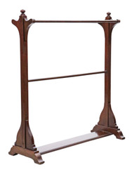 Antique quality Victorian mahogany towel rail stand 19th Century