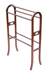 Antique quality Edwardian inlaid mahogany towel rail stand C1905