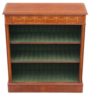Fine quality Victorian 19th Century inlaid mahogany adjustable bookcase