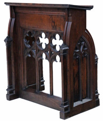 Antique 19th Century Gothic carved oak lectern stand table station