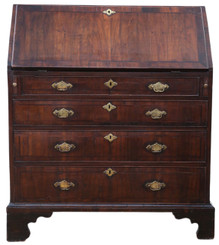 Antique Georgian C1790 walnut bureau desk writing table 18th Century