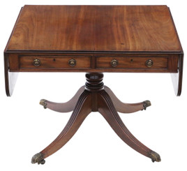 Antique fine quality Regency C1825 mahogany sofa table 19th Century