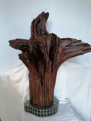 One off fine quality artist created mystical tree root sculpture crystals stainless base
