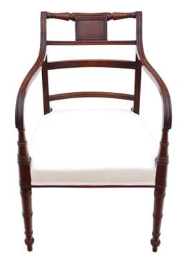 Antique fine Georgian elbow, carver or desk chair C1800