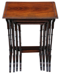 Antique quality mahogany nest of 4 Edwardian tables early 20th Century