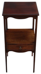 Antique quality Georgian C1805 mahogany bedside table washstand