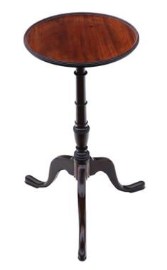 Antique fine quality Georgian C1800 mahogany tilt top wine table side