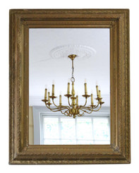 Antique large quality gilt wall mirror 19th Century overmantle
