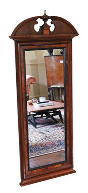 Antique large quality mahogany full height wall mirror 19th Century