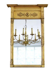 Antique large quality gilt 19th Century pier wall mirror