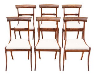 Antique quality set of 6 Regency mahogany dining chairs 19th Century C1825