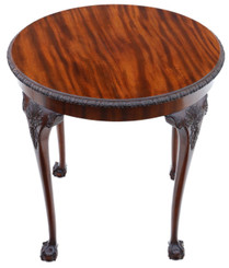 Antique fine quality carved mahogany circular table occasional side centre window C1910