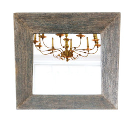 Antique retro quality distressed blue overmantle or wall mirror mid-20th Century Keith Vaughan