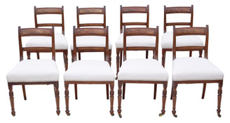 Antique fine quality set of 8 mahogany dining chairs 19th Century C1860