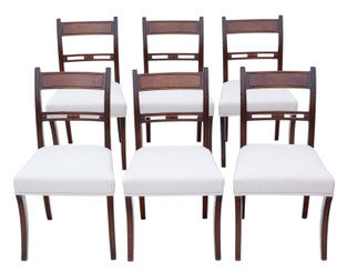 Antique fine quality set of 6 mahogany dining chairs 19th Century