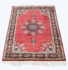 "Large quality vintage/retro wool rug ~ 8' x 4'6"" Eastern"