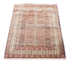 Vintage/retro wool rug ~ 6' x 4'