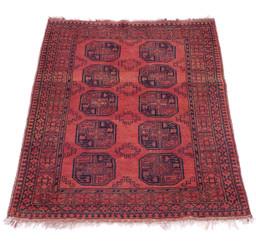"""Vintage/retro wool rug roughly 6'8"""" x 4'4"""" Eastern Kayan"""