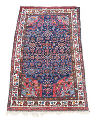 """Vintage/retro wool rug roughly 5'6"""" x 3' Eastern"""