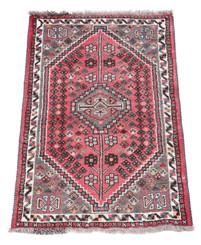 """Vintage/retro wool rug roughly 4' x 2'8"""" Eastern"""