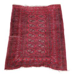 """Vintage/retro wool rug roughly 4'8"""" x 3'4"""" Eastern"""
