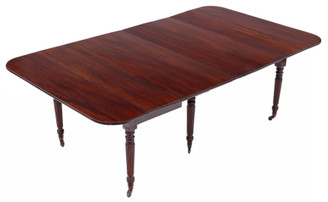 """Antique large ~7'6"""" x 4'5"""" fine quality mahogany extending dining table 19th Century Gillows"""