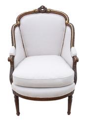 Antique rare fine quality gilt 19th Century chair armchair
