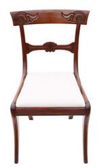 Antique fine quality Regency Cuban mahogany dining chair 19th Century C1825